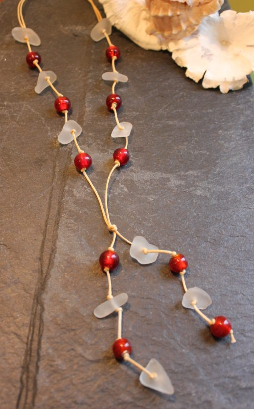 https://www.onemoregift.co.uk/product/scottish-seaglass-white- red -foiled- beads-knotted-waxed-cord-necklace/