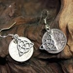Celtic Knot & Silver Sixpence Earrings